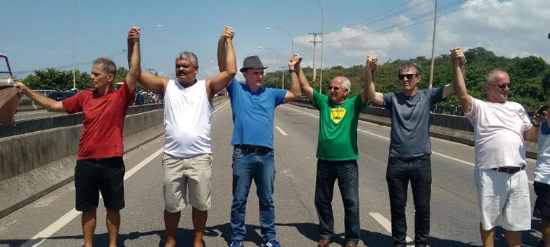 Chiabai participa de ato em defesa do Rio Jucu