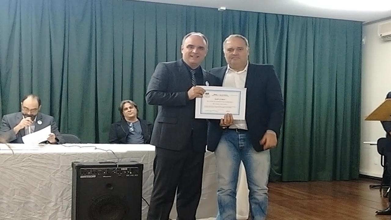 Chiabai homenageado pelo IGHVV em aniversário de Vila Velha