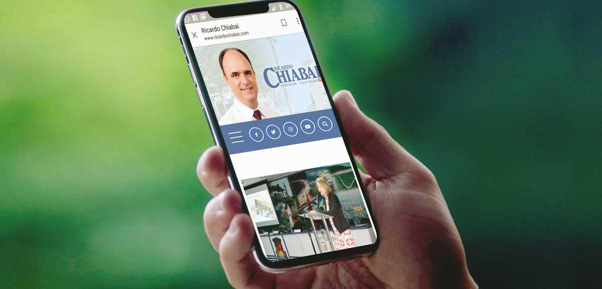 Site do vereador Chiabai amplia acessibilidade aos visitantes