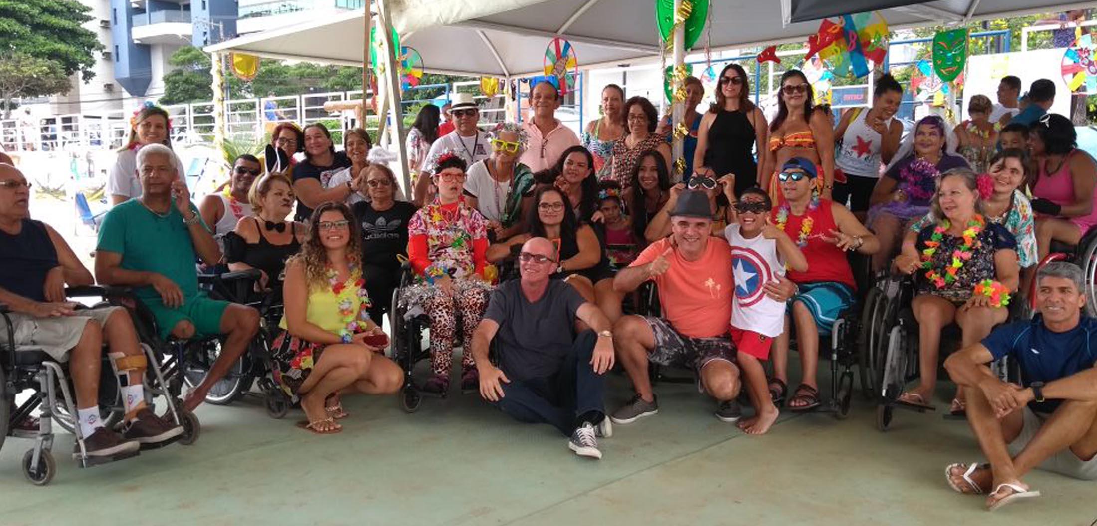 Carnaval inclusivo no projeto Praia Legal