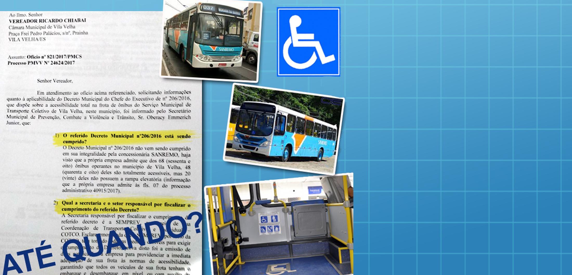 Chiabai cobra acessibilidade total em frota municipal de ônibus