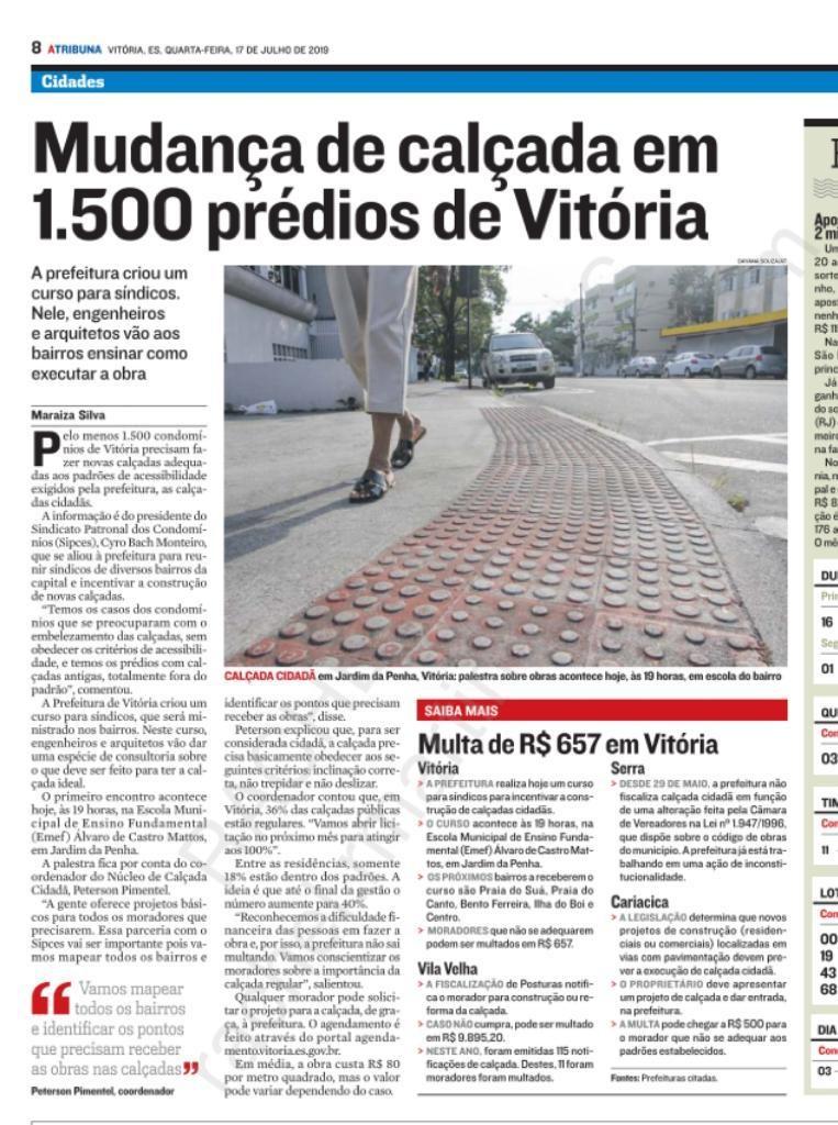 É lamentável que em Vila Velha, a prefeitura não tenha esse mesmo comportamento