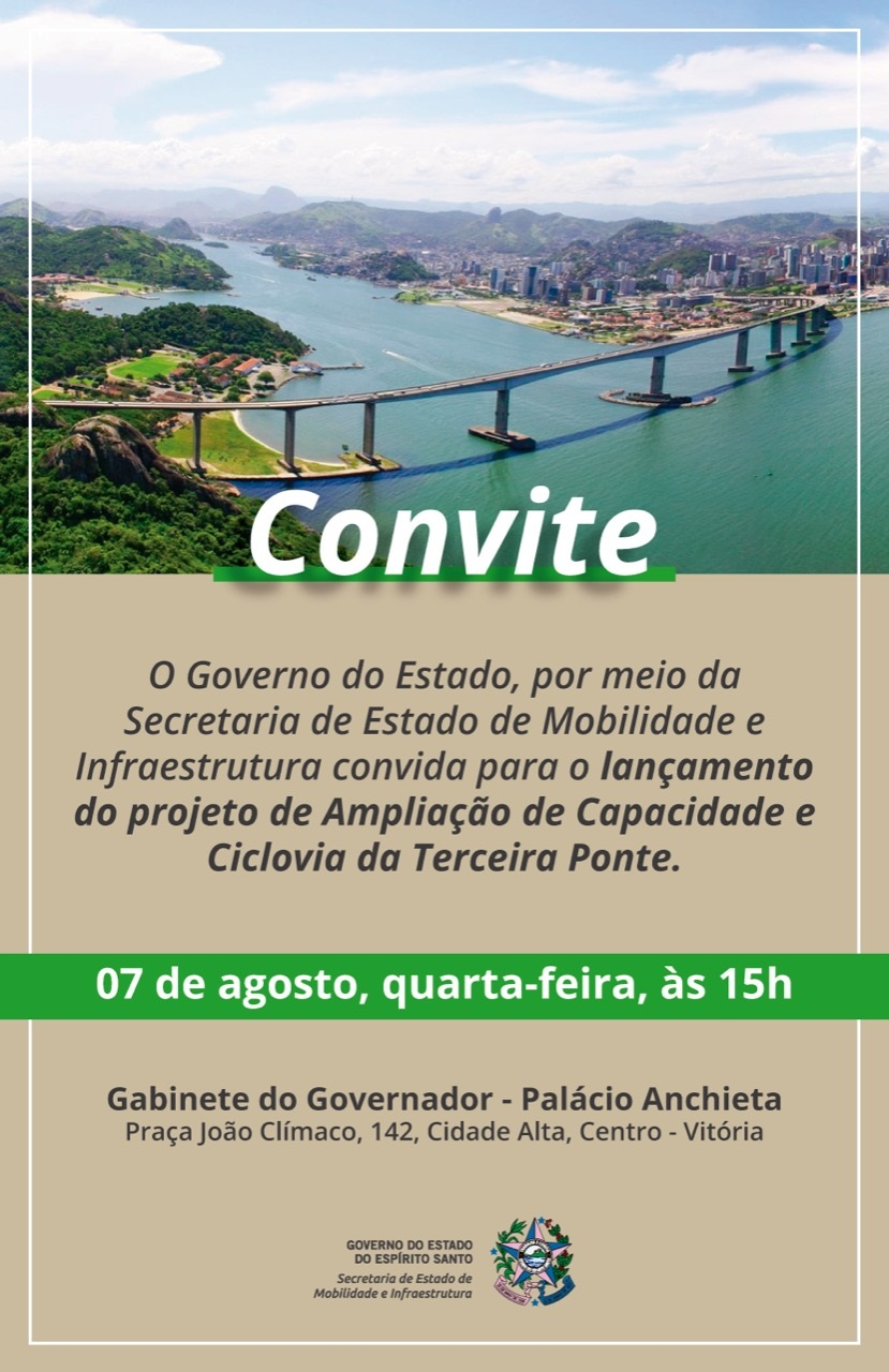 """Mais uma entrega nossa: o projeto da melhoria da capacidade de fluxo de veículos e da instalação da """"ciclovia da vida"""" na 3ª Ponte"""