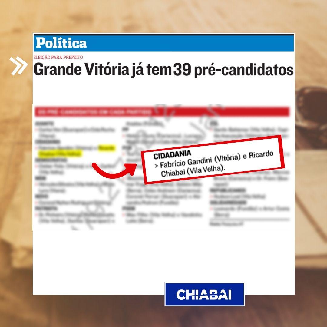 Pré Candidaturas do Cidadania23 seguem firmes para municípios da Grande Vitória