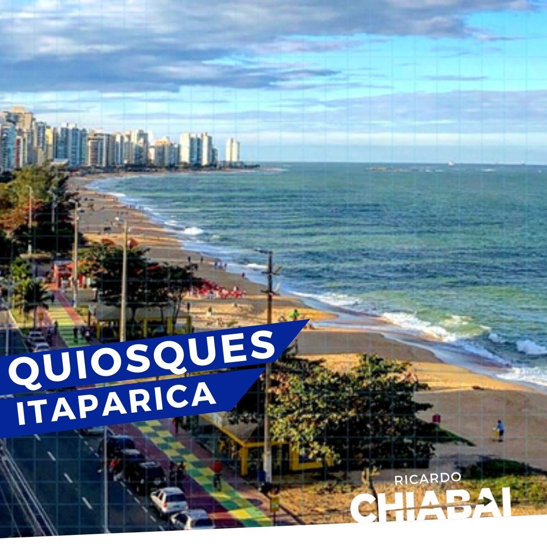 Quiosques de Itaparica, na orla de Vila Velha