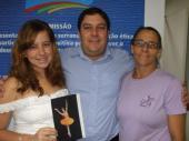 Visita da Caroline e sua mãe Eli ao meu gabinete na Câmara Municipal