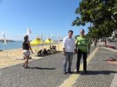 Visita do Vereador de Vitória Fabrício Gandini (PPS) ao Projeto Praia Legal