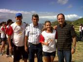 Presença na Ação de limpeza da Reserva de Jacarenema dos alunos do Colégio UP com Neymara Carvalho