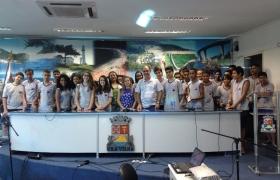 """""""Escola na Câmara"""":  UMEF Prof. Rubens José Vervloet Gomes (Vila Olímpica) - 1ª visita"""