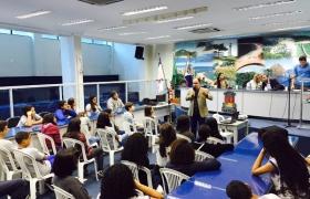 """""""Escola na Câmara"""": UMEF Reverendo Antônio da Silva Cosmo (Escola Parque) - 07/07/2015"""