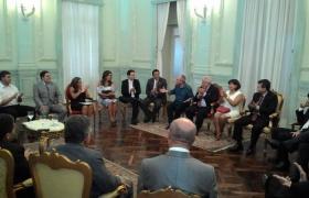Reunião com Pulo Hartung no Palácio Anchieta