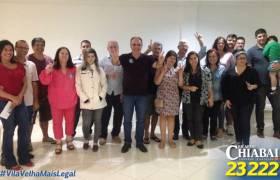 Reunião com apoiadores na Praia da Costa