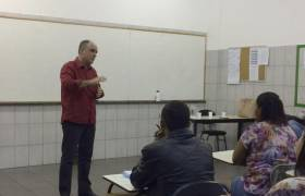 Palestra na Faculdade Americano Batista - Praia da Costa