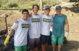 Ação de conscientização ambiental de limpeza da Praia do Inhoá