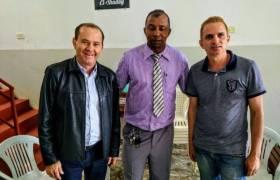 Em Itarana com o vereador Ozeias e Pastor Carlinhos