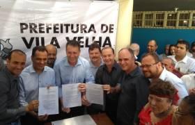 Assinatura do convênio para o Aquaviário entre PMV e PMVV