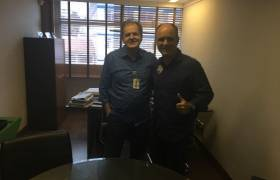 Visita à empresa de amigo em Vitória