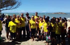 Encontro com amigos da terceira idade na Praia da Costa, Vila Velha