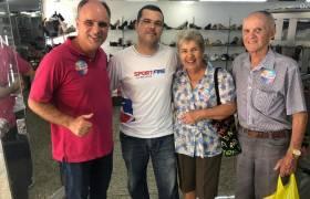 Visita aos comerciantes do Centro de Vitória