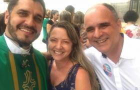 Missa na Igreja Pérpetuo Socorro, Praia da Costa, Vila Velha.