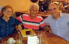 Reunião com Áureo Cola e Maria Eller, em Vila Velha.