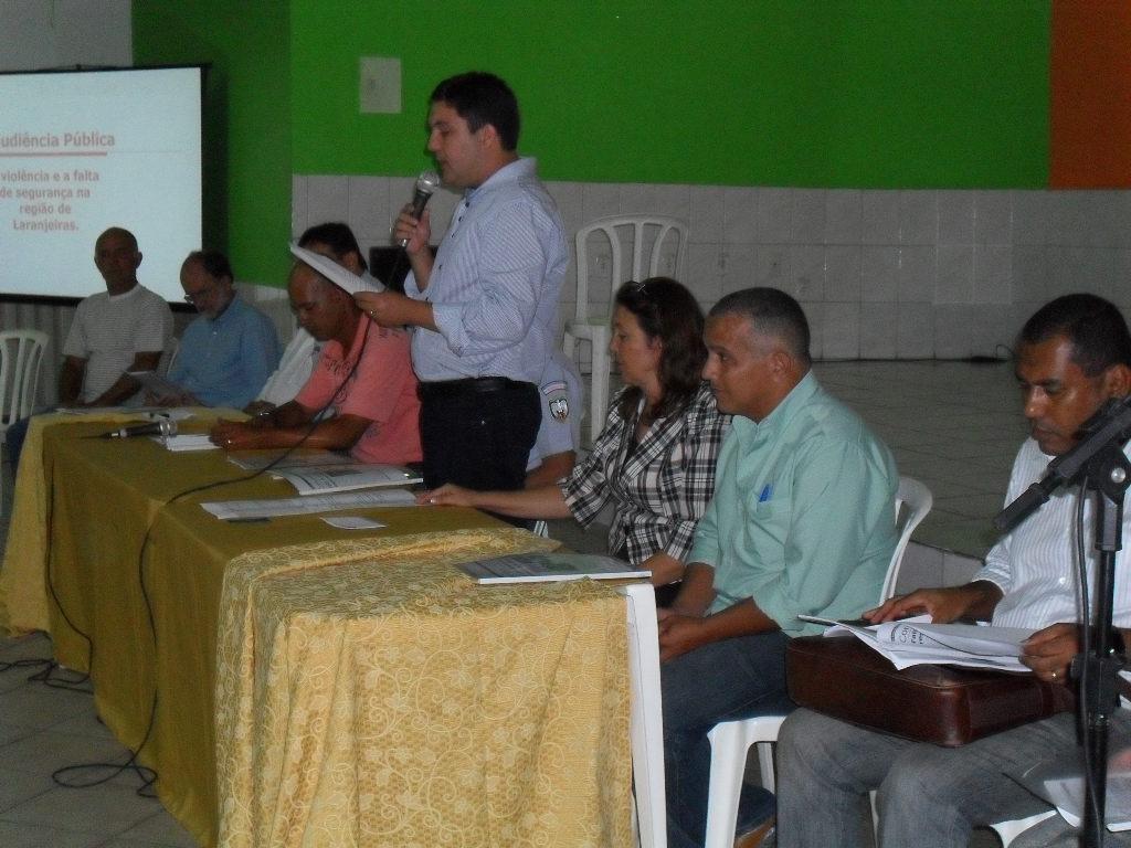 Audiência discute reforço na segurança do bairro Laranjeiras