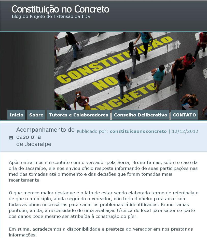 FDV ressalta luta de Bruno Lamas pela orla de Jacaraípe