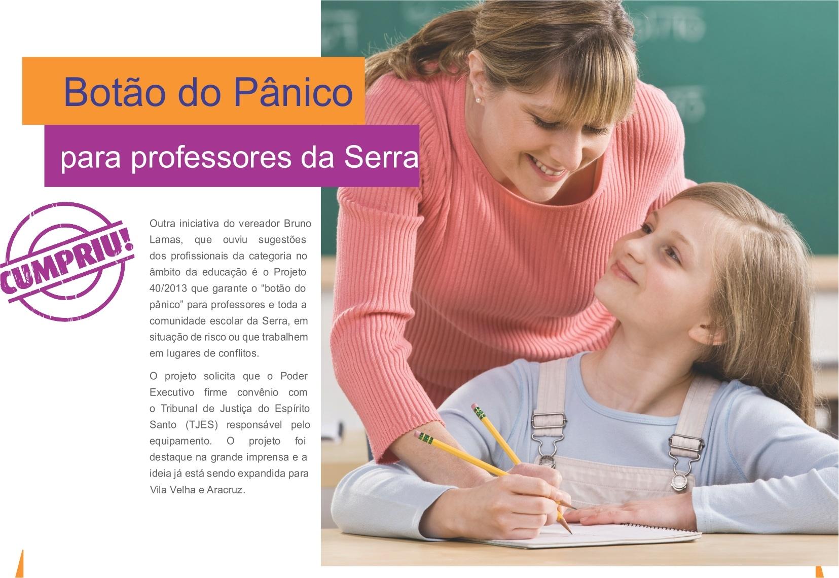 Botão do Pânico para professores