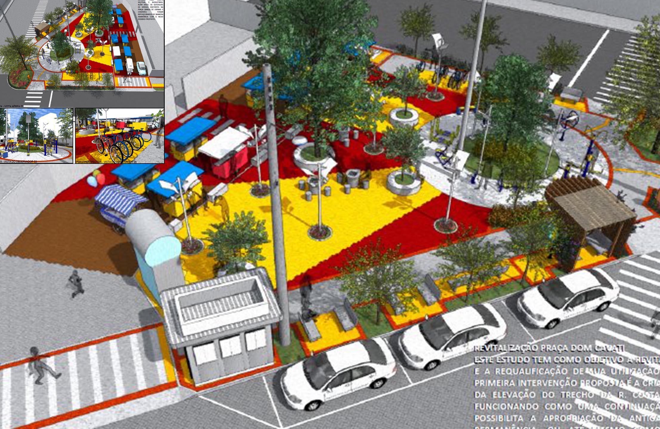 Chiabai fiscaliza obra em praça de Itapoã e verifica diferenças no projeto da PMVV