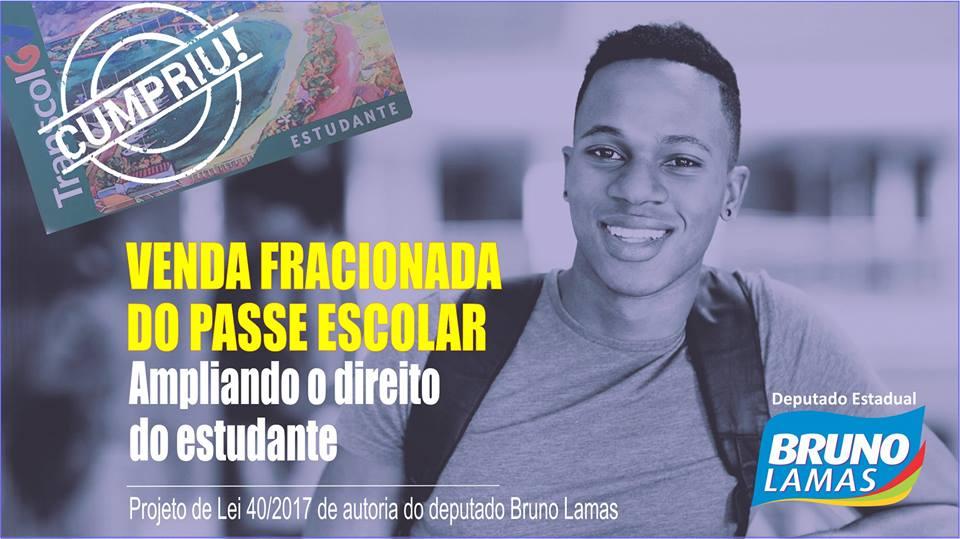 VENDA FRACIONADA DO PASSE ESCOLAR
