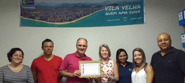 Movive recebe Moção de Aplauso em reconhecimento a  seus 20 anos em Vila Velha