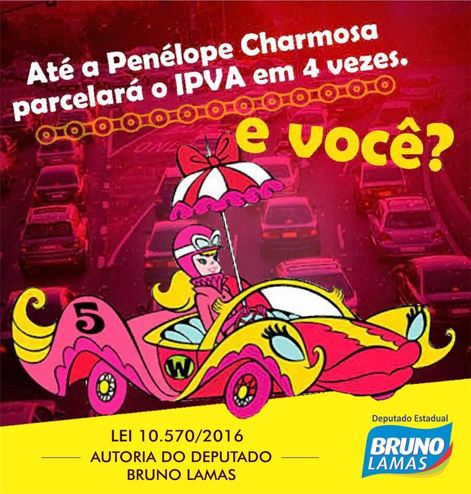 IPVA PARCELADO EM 4 VEZES - LEI  DO DEPUTADO BRUNO LAMAS