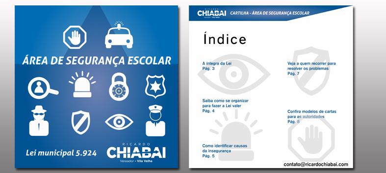 Chiabai lança cartilha com orientações para  a Área de Segurança Escolar de Vila Velha