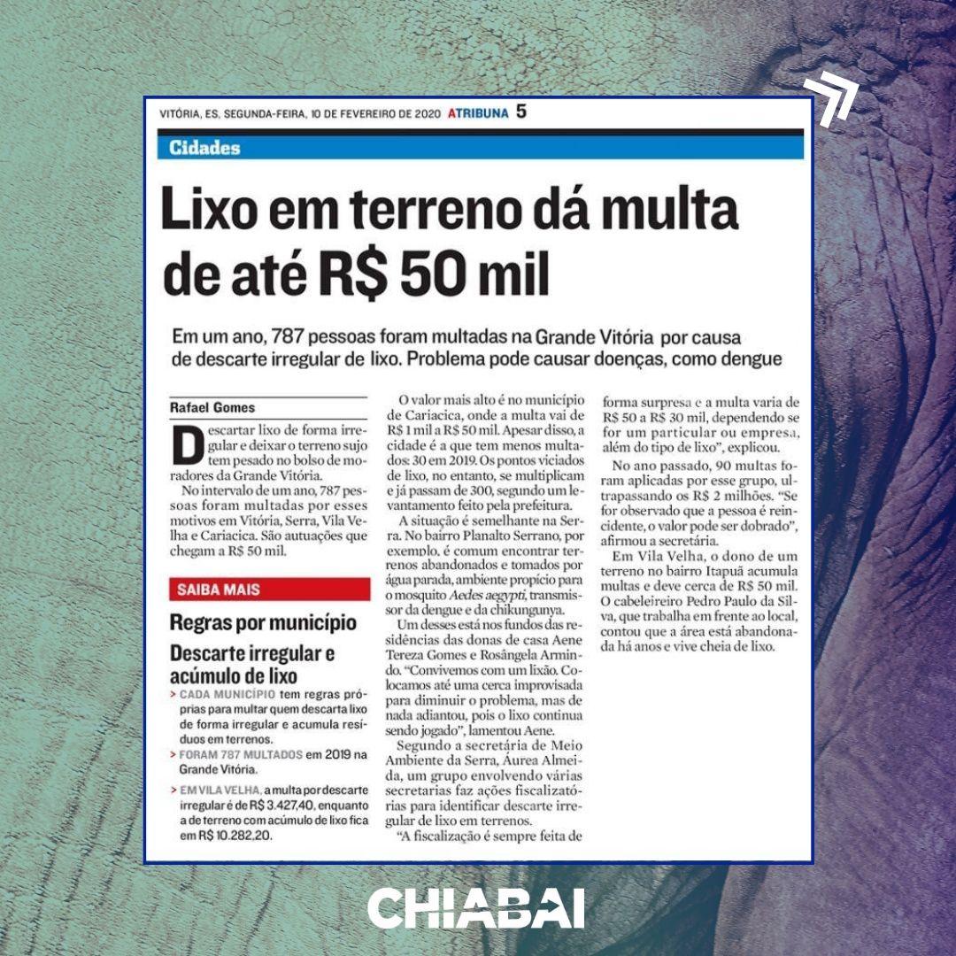 Terrenos baldios seguem sendo multados em Vila Velha