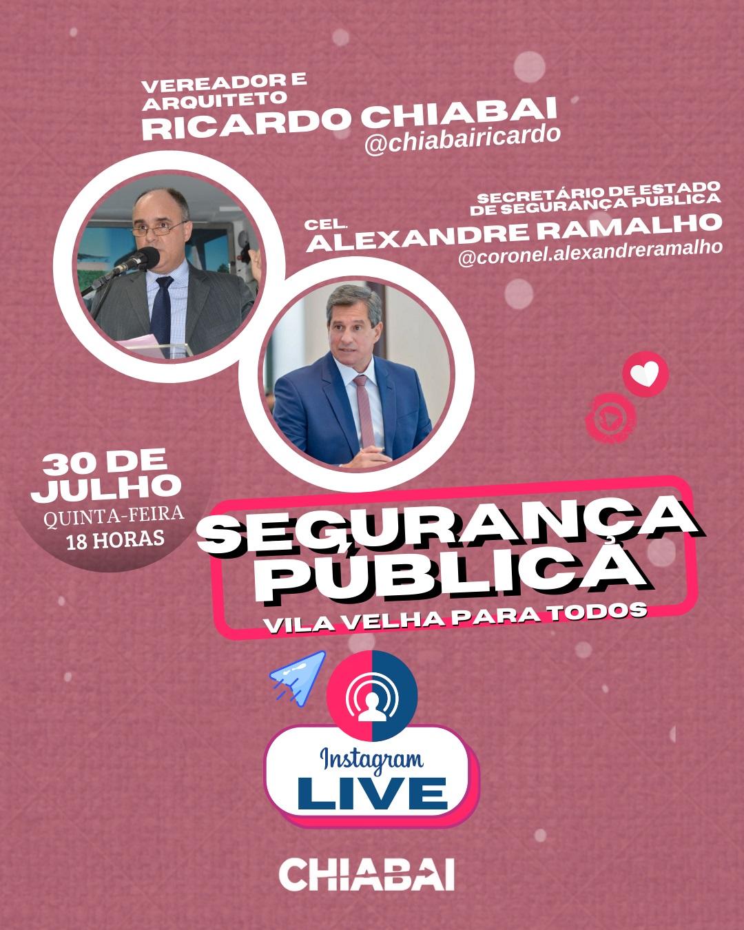 LIVE: Segurança Pública   Vila Velha para todos