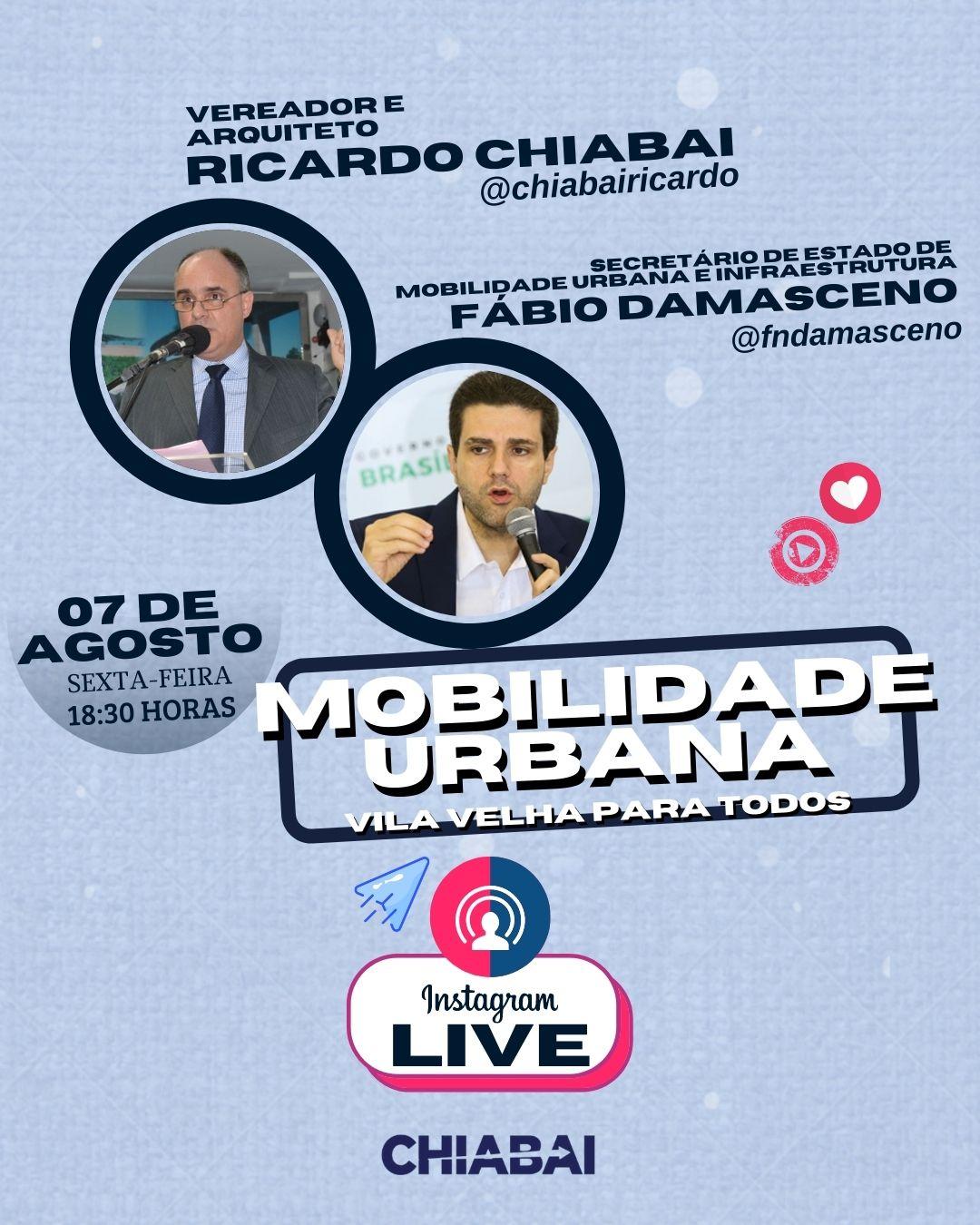 LIVE: Mobilidade Urbana   Vila Velha para todos