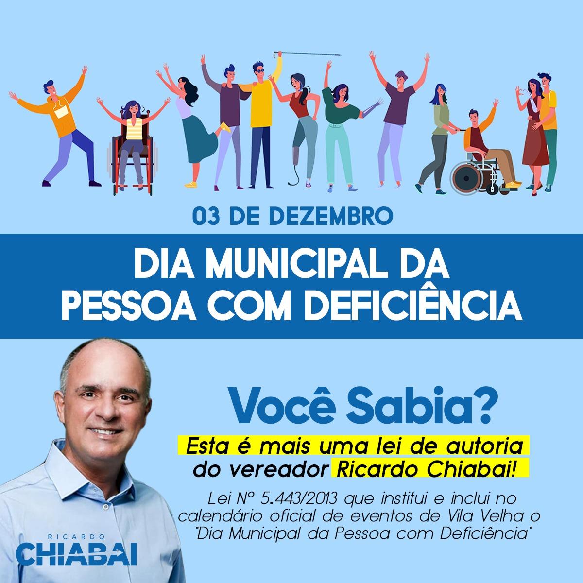 Hoje é o Dia Internacional da Pessoa com Deficiência.