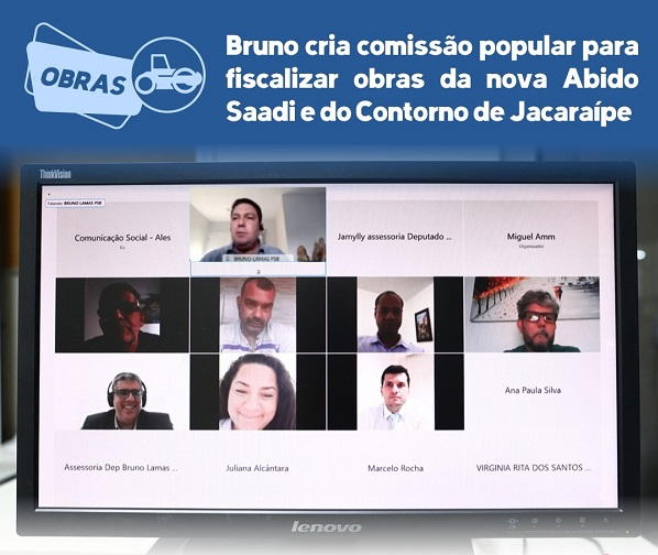 Frente liderada por Bruno cria comissão popular para fiscalizar obras da nova Abido Saadi e do Contorno de Jacaraípe