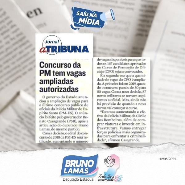 Após articulação de Bruno, governo autoriza ampliação de vagas em concurso de oficiais da Polícia Militar