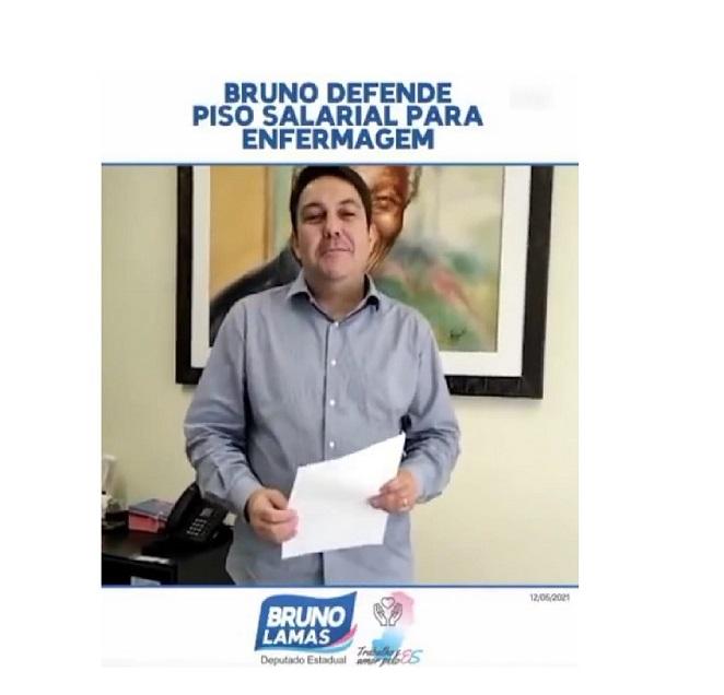 Bruno assina manifestação de apoio à criação do piso salarial nacional da enfermagem