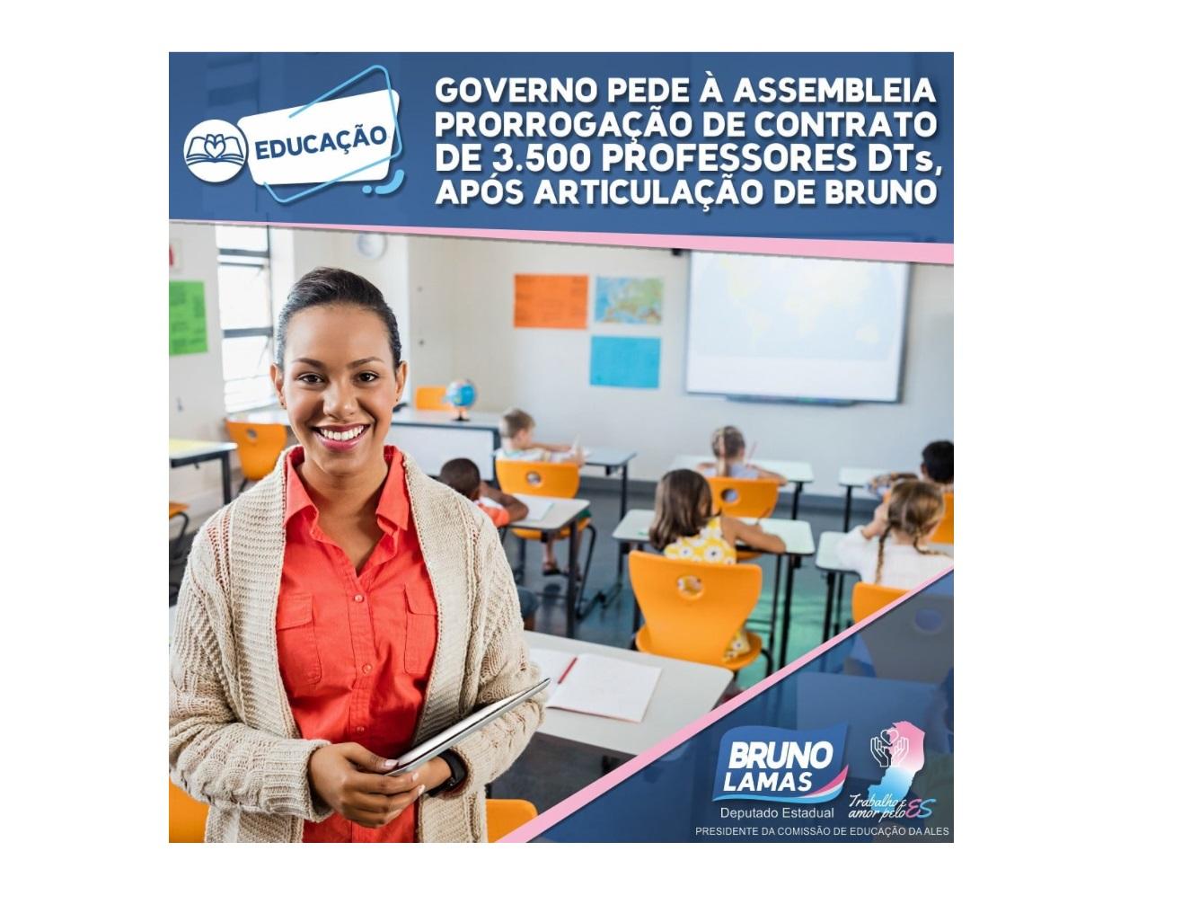 Governo pede à Assembleia prorrogação de contrato de 3.500 professores DTs, após articulação de Bruno Lamas