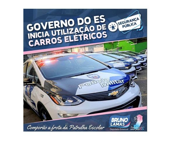 Boa notícia para os capixabas: governo do Estado inova e Polícia Militar começa a usar carros elétricos