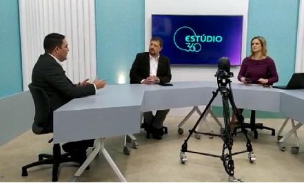 Bruno explica na TV Capixaba proposta para que PMs usem câmeras na farda