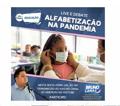 Deputado participa de live e debate sobre a alfabetização na pandemia