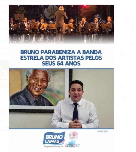 Bruno parabeniza a banda Estrela dos Artistas pelos seus 54 anos