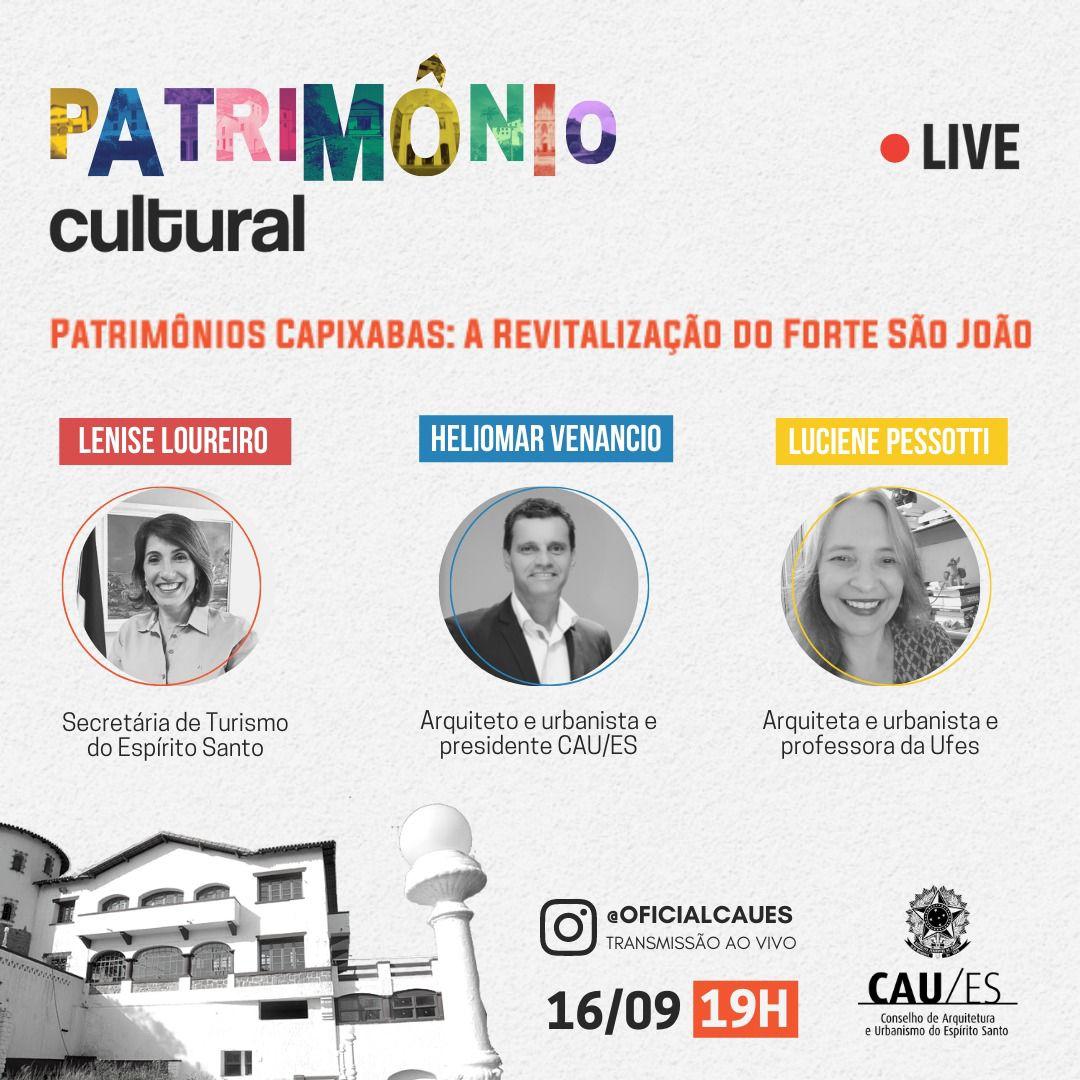 Live Patrimônios Capixabas : A Revitalização do Forte São João