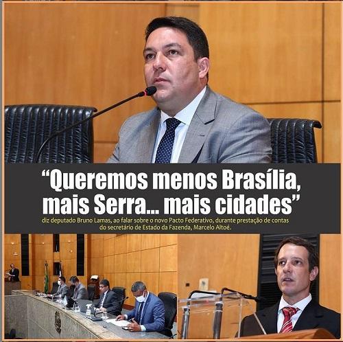 Bruno defende Pacto Federativo com mais destaque para as cidades, em prestação de contas do secretário da Fazenda