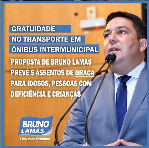 Bruno propõe 5 assentos gratuitos para idosos, pessoas com deficiência e crianças em ônibus intermunicipal