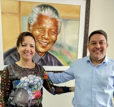 Bruno recebe a visita da ilustre amiga, a juíza Janete Pantaleão Alves