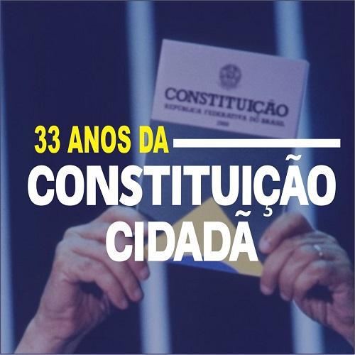Bruno destaca os 33 anos da Constituição Cidadã